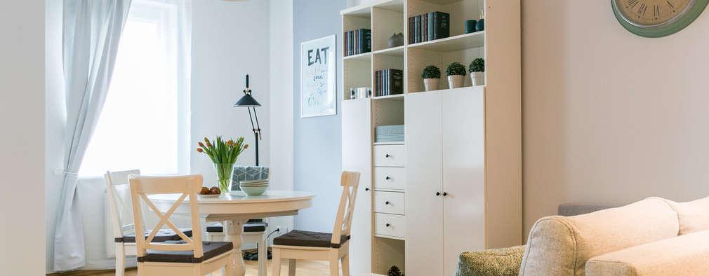 Home staging mieszkania na wynajem - salon : styl , w kategorii  zaprojektowany przez IDeALS | interior design and living store