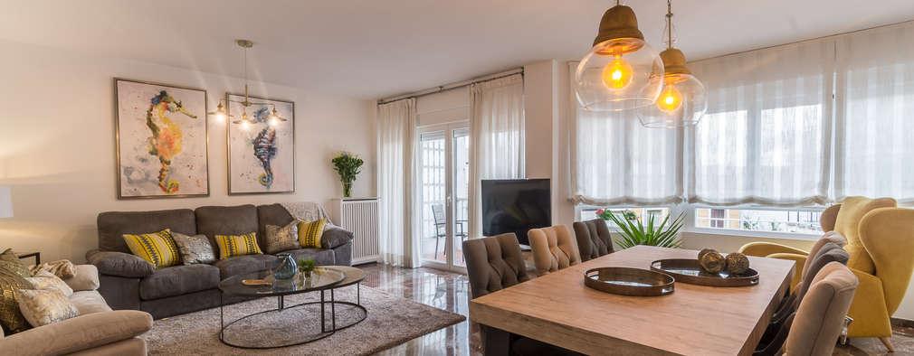 Projekty,  Salon zaprojektowane przez Home & Haus | Home Staging & Fotografía