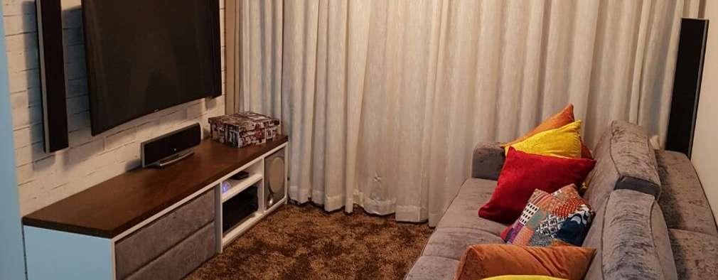 Salas de estilo moderno por Arquiteta Elaine Silva