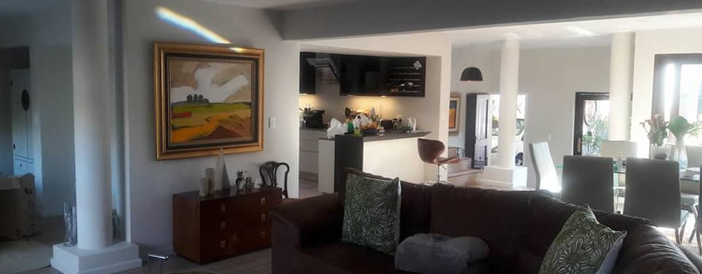 Diepenbrook residence renovation in Woodmead.: modern Living room by Big A Contractors