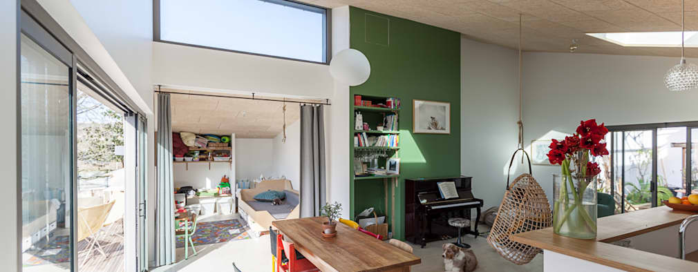 industrial Dining room by bertin bichet architectes