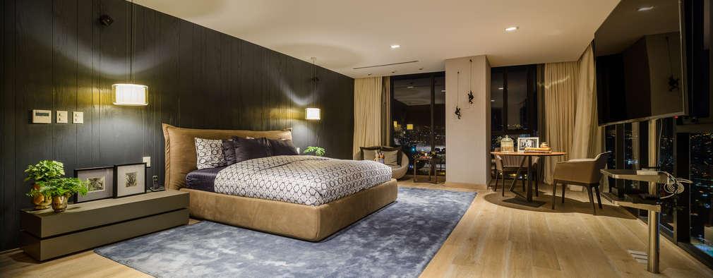 Habitaciones de estilo moderno por NIVEL TRES ARQUITECTURA