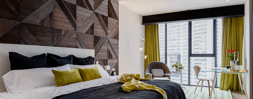 dormitorios de estilo moderno de nivel tres