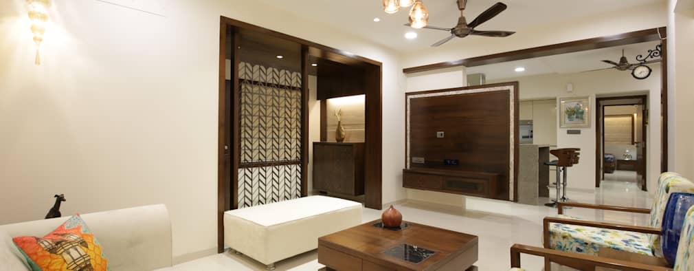 asian Living room by studio 7 designs