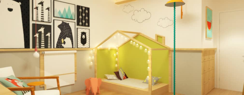 Dormitorios infantiles de estilo moderno por Macro Arquitetos