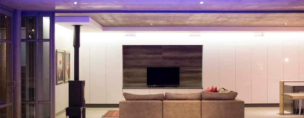 House Swart (Cameron Court Unit 1): modern Living room by Swart & Associates Architects