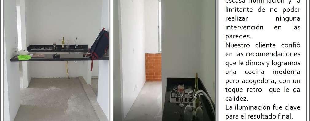 Apartamento pequeño en Girardot: remodelación y diseño de interiores