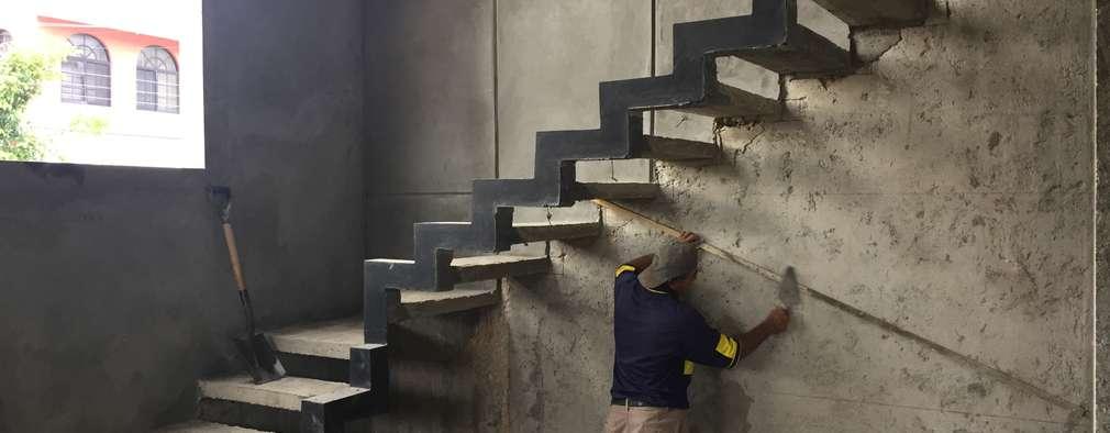 C mo calcular y dise ar una escalera t mismo for Como hacer una escalera de concreto con descanso
