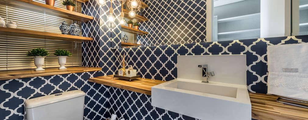 Baños de estilo moderno por Treez Arquitetura+Engenharia