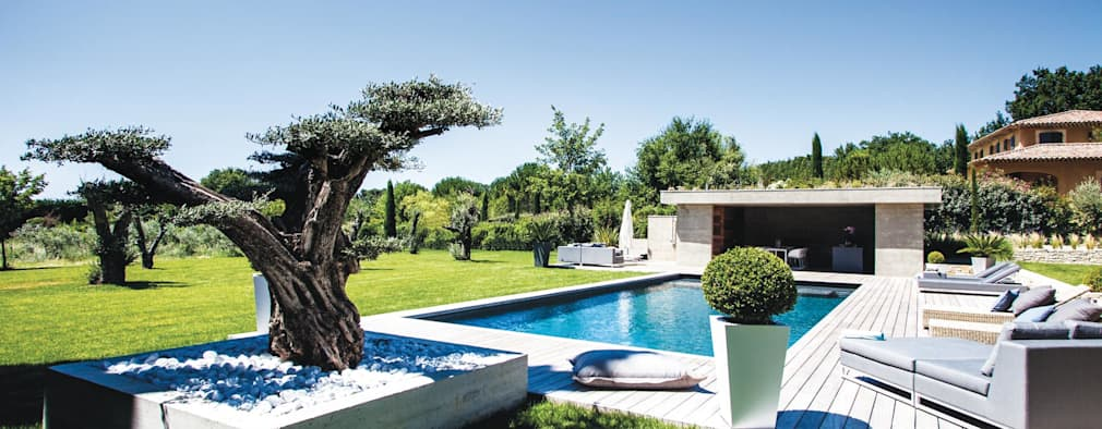 Les 21 plus belles terrasses avec piscine de france for Piscine look design