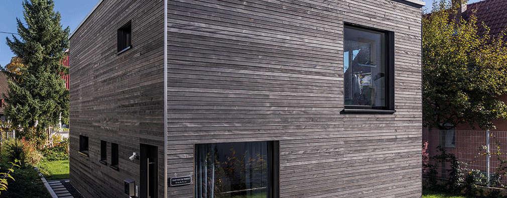 Asthetischer Würfel, clever geplant und unter ökologischen und ökonomischen Gesichtspunkten optimiert: moderne Häuser von KitzlingerHaus GmbH & Co. KG