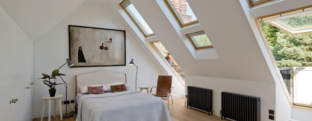 Hampstead Penthouse: minimalistic Bedroom by DDWH Architects