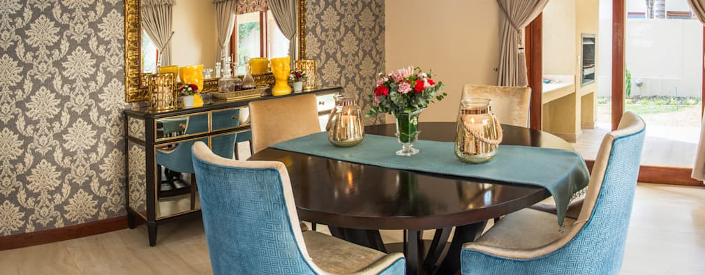 Dining Room. : classic Dining room by Carne Interiors