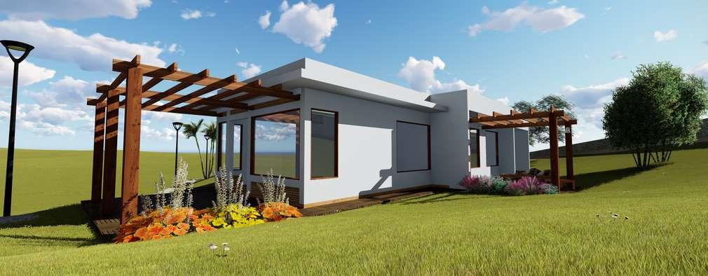 Casas de estilo moderno por Numen - Arquitetura e Urbanismo