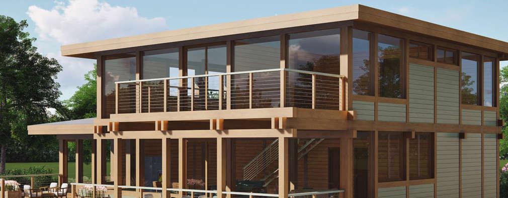 Projekty, minimalistyczne Domy zaprojektowane przez Artcrafts