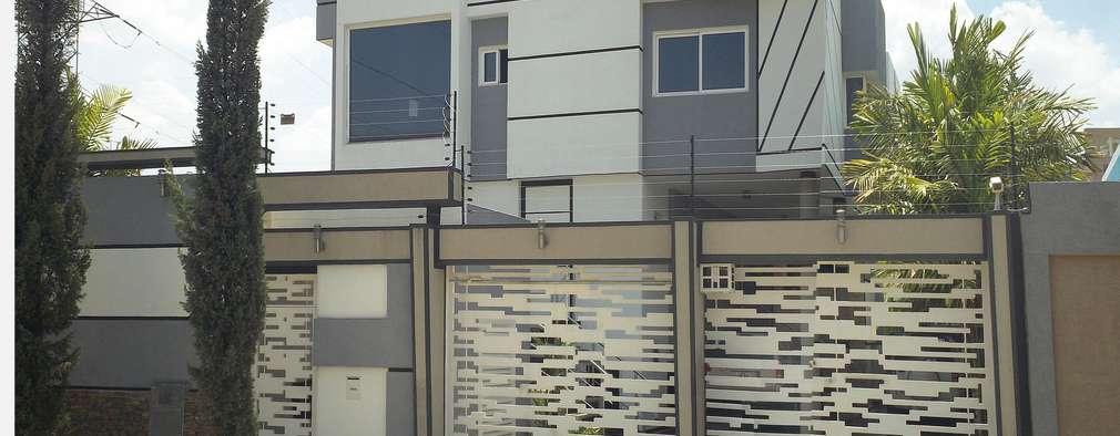 Fachada Frontal exterior: Casas de estilo escandinavo por Eisen Arquitecto