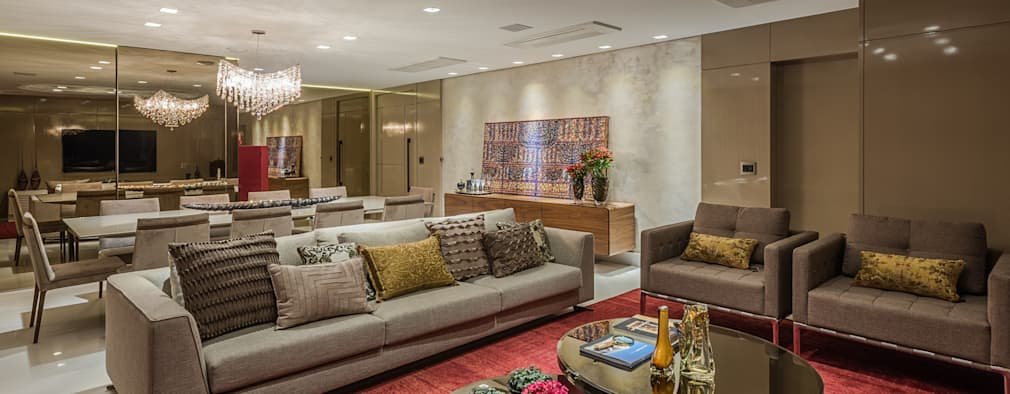 Salas modernas casa seta salas de estilo moderno por for Setas decoracion