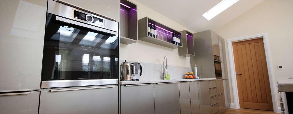 Un diseño de cocina brillante ¡y hermosa!
