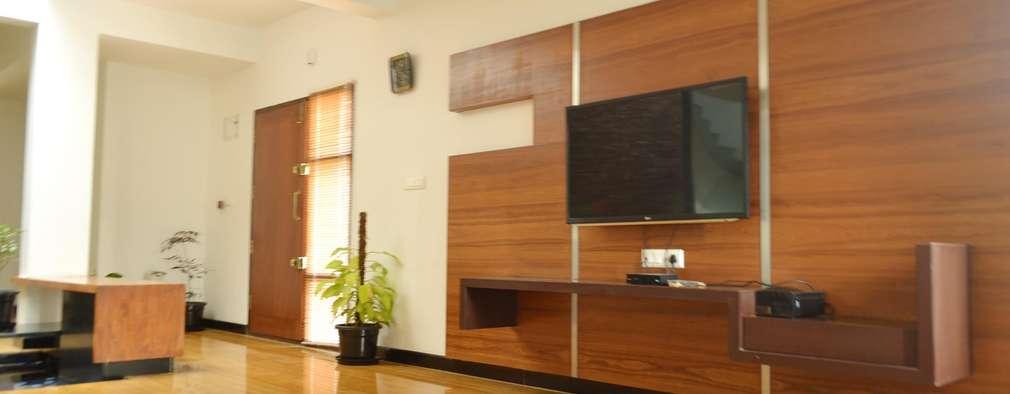 minimalistic Living room by Aadyam Design Studio