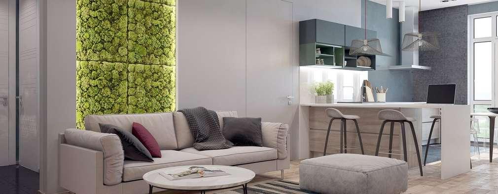 Salas / recibidores de estilo minimalista por Interior designers Pavel and Svetlana Alekseeva
