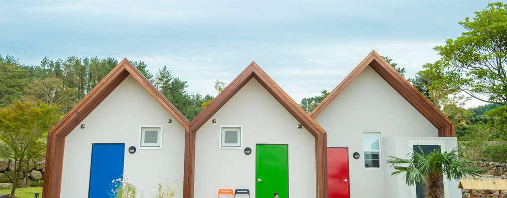 Projekty, nowoczesne Domy zaprojektowane przez 더이레츠