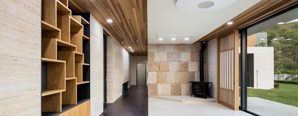 Corridor & hallway by 아키누스(건축동인) 건축사사무소