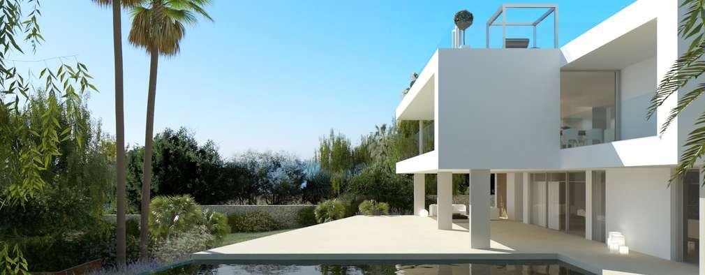 Refurbishment of existing house and pool in Santa Ponsa: modern Pool by Tono Vila Architecture & Design