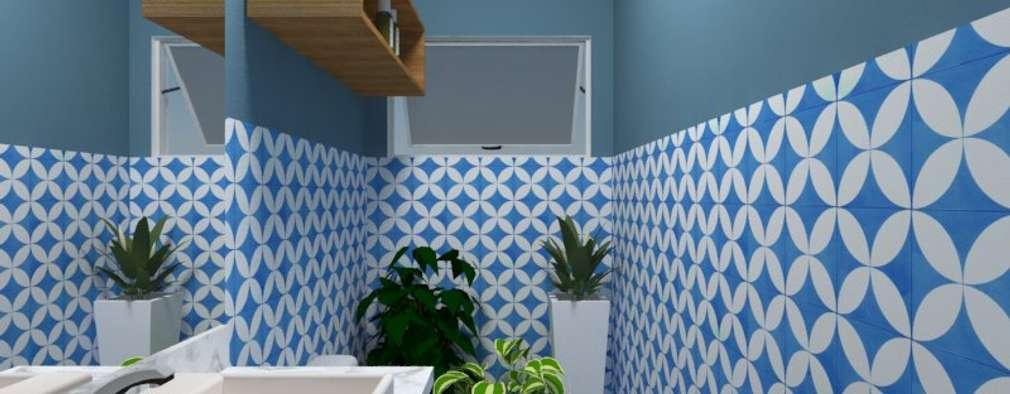 country Bathroom by Atelie 3 Arquitetura