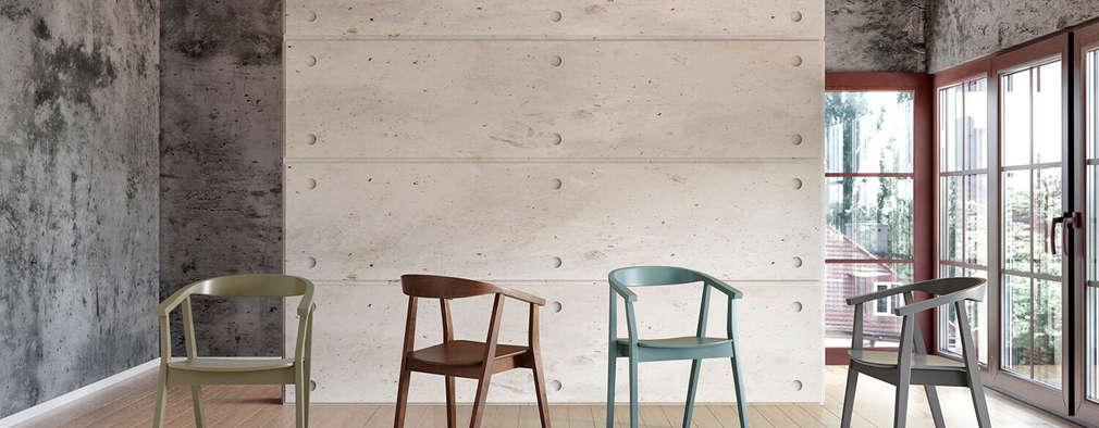 Sillas madera diseño nórdico minimalista:  de estilo  de somcasa