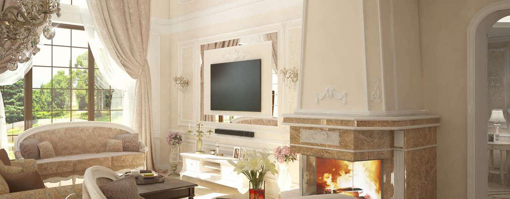 غرفة المعيشة تنفيذ Design studio by Anastasia Kovalchuk