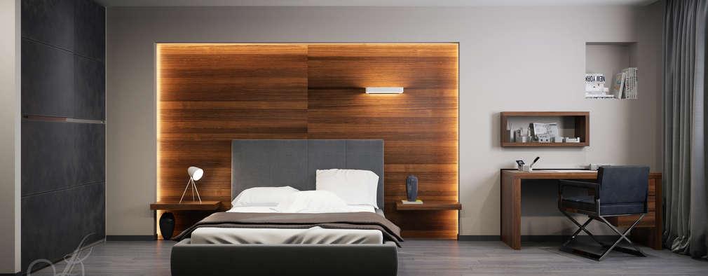 Projekty,  Sypialnia zaprojektowane przez Design studio by Anastasia Kovalchuk