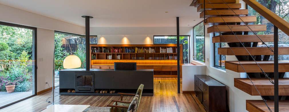 minimalistische Wohnzimmer von Nicolas Loi + Arquitectos Asociados