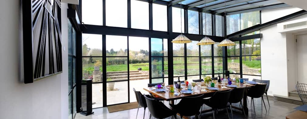 modern Dining room by IQ Glass UK