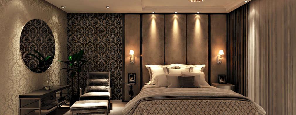 modern Bedroom by Flávia Kloss Arquitetura de Interiores