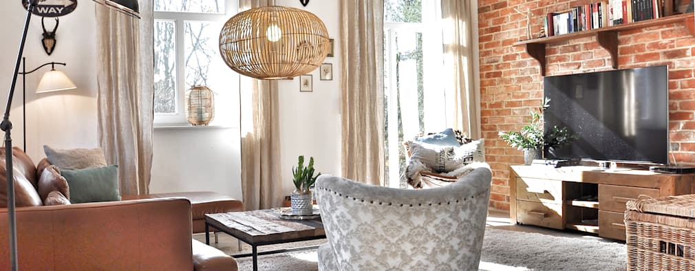 Klassisches Backsteinhaus Im Modern Country Style: Landhausstil Wohnzimmer  Von Karin Armbrust   Home Staging