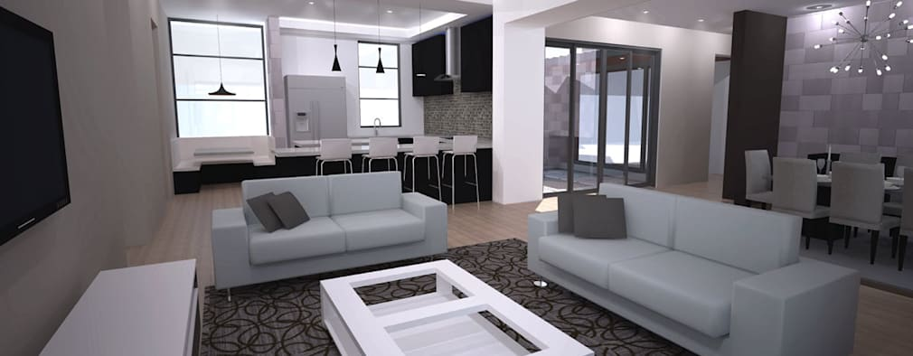 Lounge interior: modern Living room by A4AC Architects