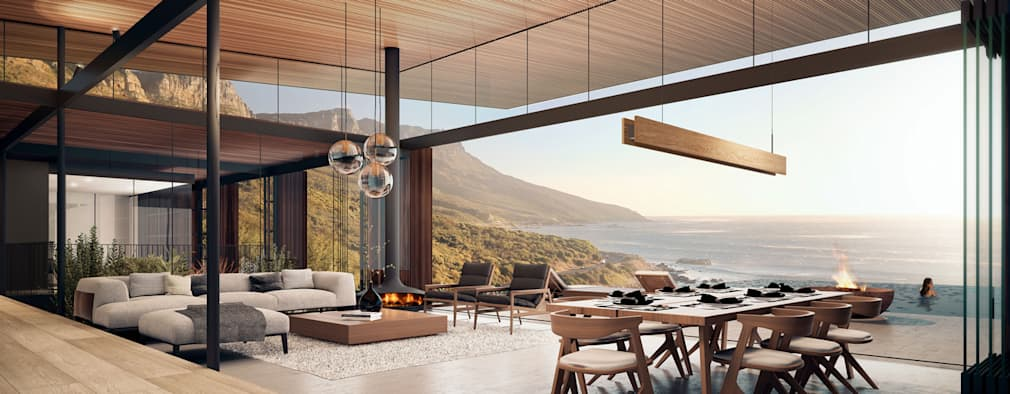 Camps Bay Home: modern Living room by Kunst Architecture & Interiors