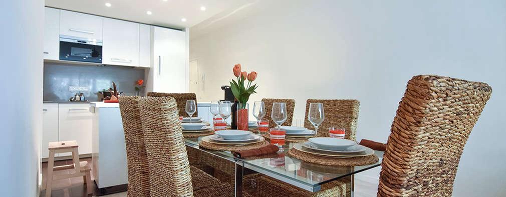 Arco de Triunfo -80 m²-, Barcelona. Cocina - Comedor.: Comedores de estilo moderno de GokoStudio