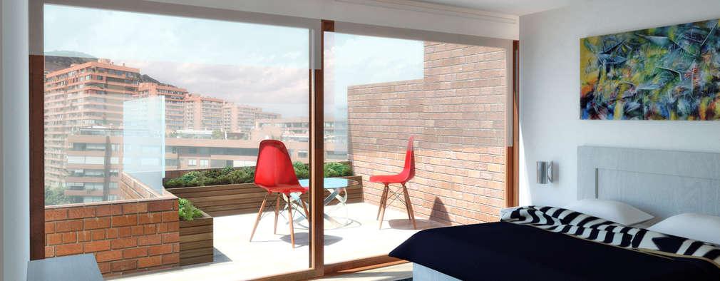 Penthouse Vitacura: Dormitorios de estilo moderno por NEF Arq.