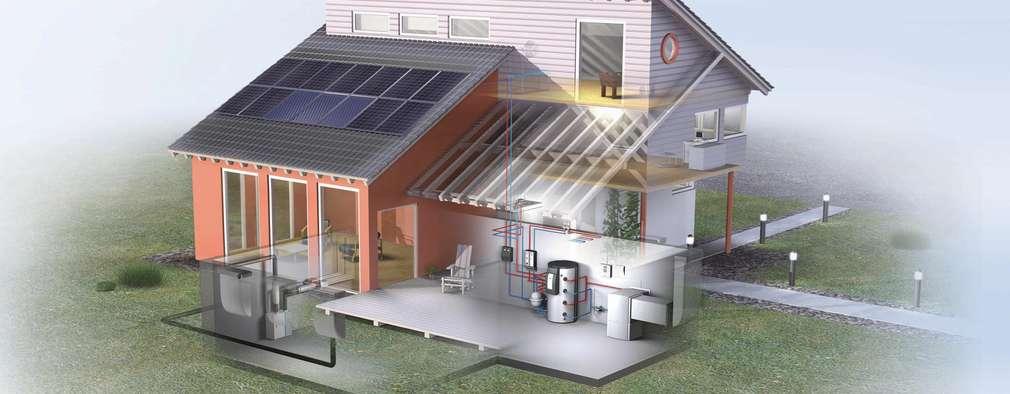 Pompa di calore e Fotovoltaico: Case in stile in stile Classico di Tucommit