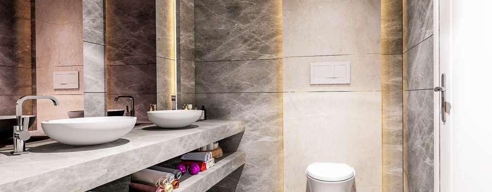 Vero Concept Architects – Villa Mira: modern tarz Banyo