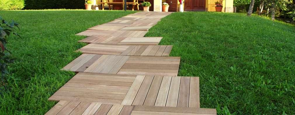 11 opciones de pisos para patios peque os y grandes for Jardines pequenos originales