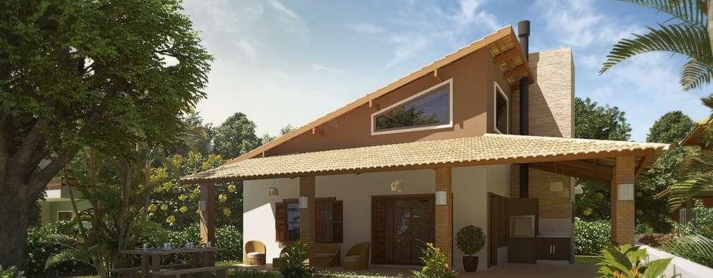 residncia litoral pinhal rs casas rsticas por daniel villela arquitetura - Fachadas De Casas De Campo