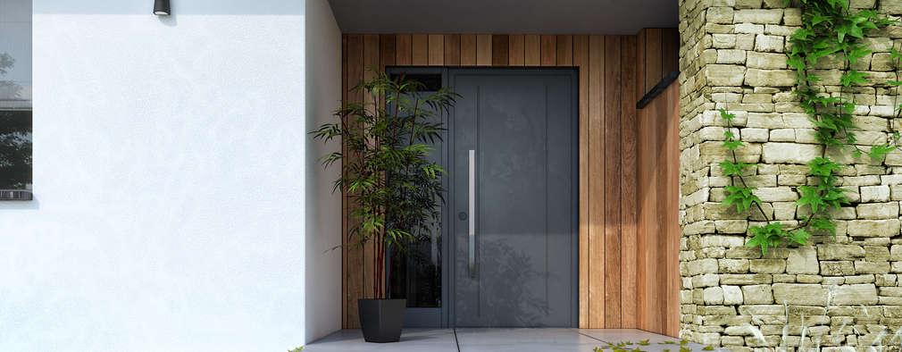 Escalones para la entrada de tu casa 17 ideas preciosas for Puerta xor de tres entradas