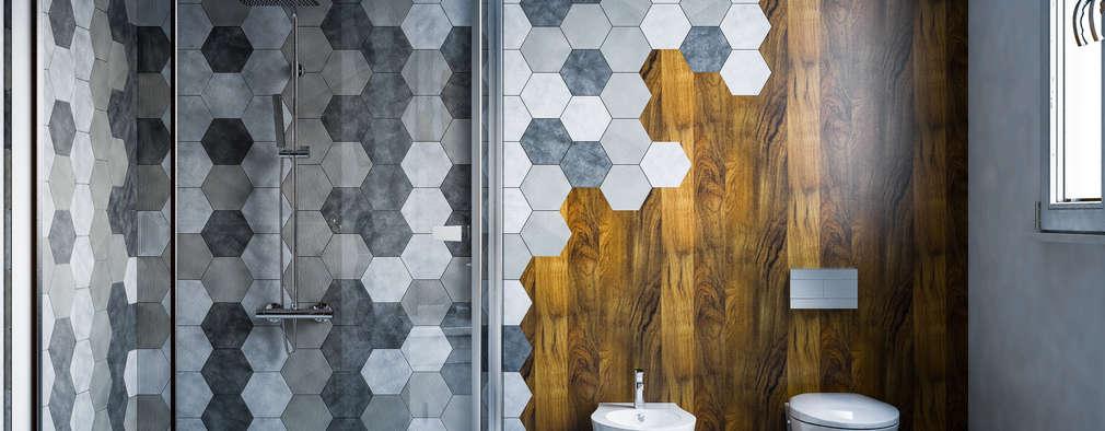 moderne Badkamer door mcp-render