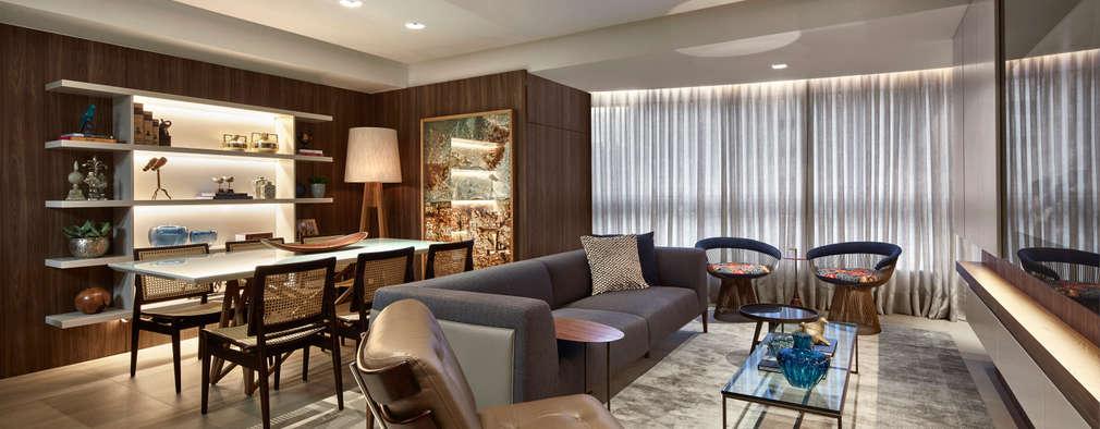 Apartamento GM - Vila da Serra: Salas de estar modernas por CLS ARQUITETURA