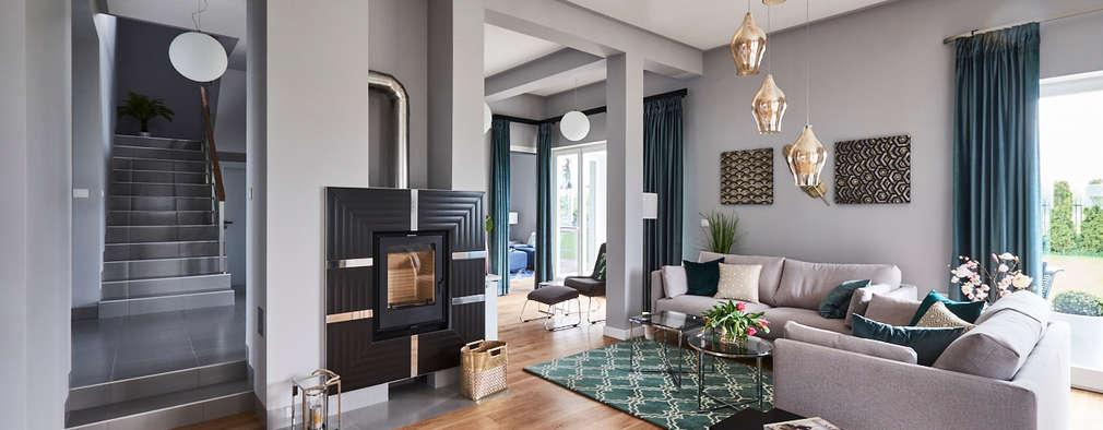 Salon, główna część wypoczynkowa.: styl , w kategorii Salon zaprojektowany przez Mhomestudio