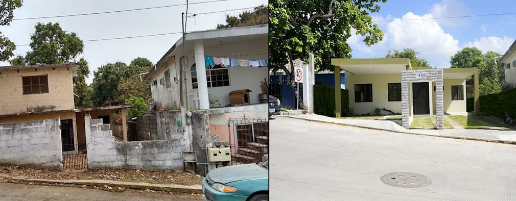 6 fachadas antes y despu s remodelaciones sorprendentes for Casas viejas remodeladas