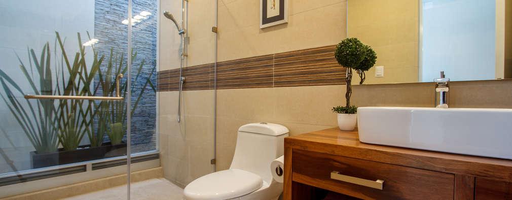 CASA ALEGRA: Baños de estilo  por SANTIAGO PARDO ARQUITECTO