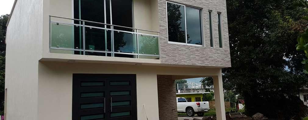 Fachadas modernas de dos plantas Fachadas de casas dos plantas modernas